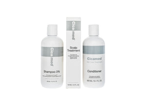 Hair loss treatment shampoo conditioner and scalp spray to strengthen hair