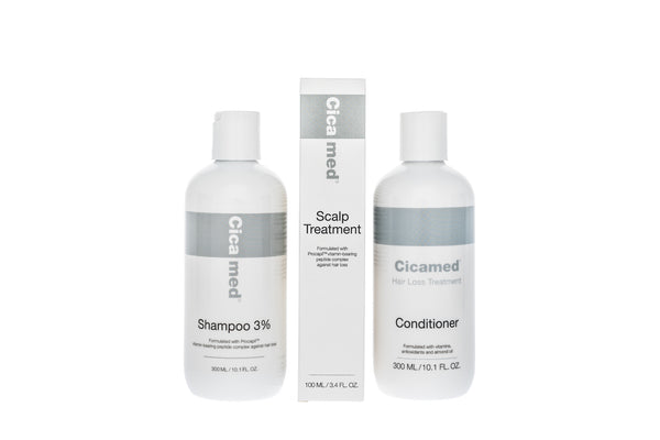 Hair Loss Treatment Full Set (1 each - Shampoo, Conditioner, and Scalp Spray)