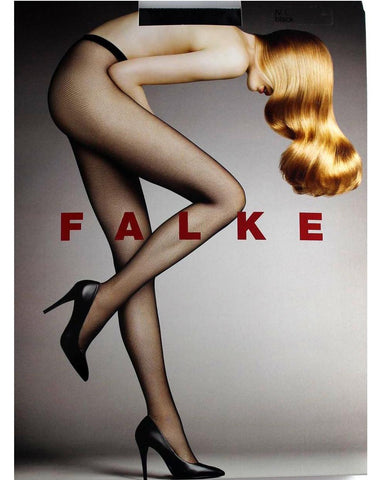Falke - black fisnet tights