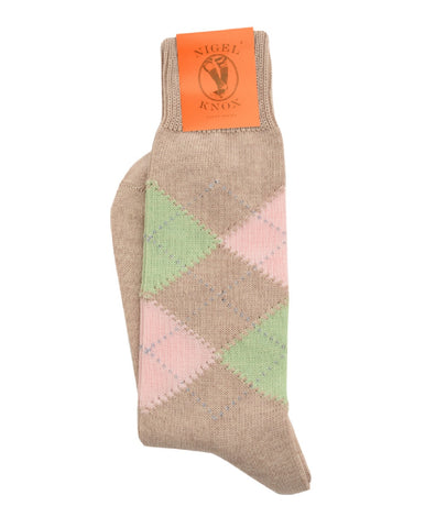 Hammond argyle pattern socks (Nigel Knox)
