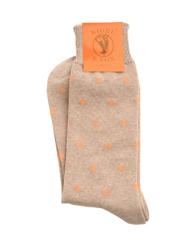 Nigel Knox : Stuart Polka Dot patterned socks