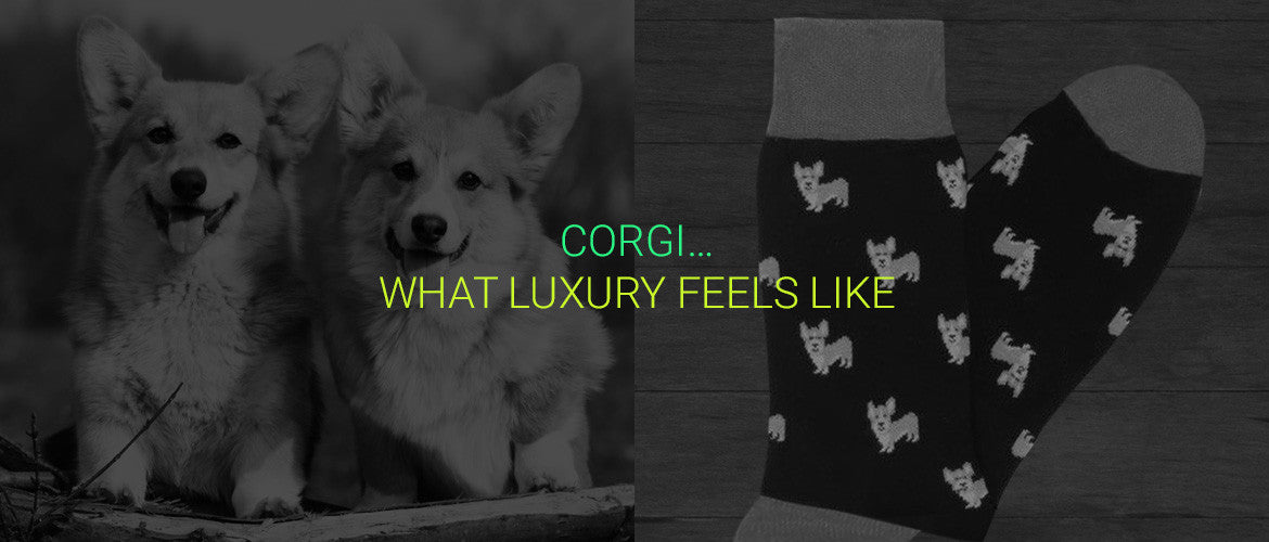 corgi-UK-socks-men-women