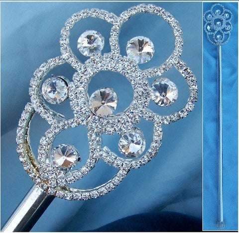 Halifax Silver Rhinestone Queen Princess King scepter, CrownDesigners