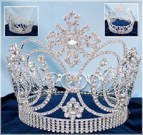 Beauty Pageant Queen Princess Bridal rhinestone FULL CROWN The Valeria - CrownDesigners