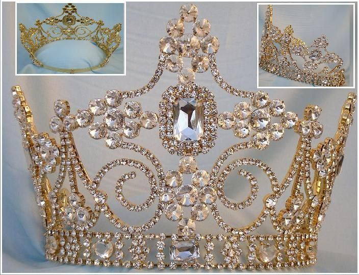 Empire Regal Crown Silver Queen or King  Rhinestone Crown - CrownDesigners