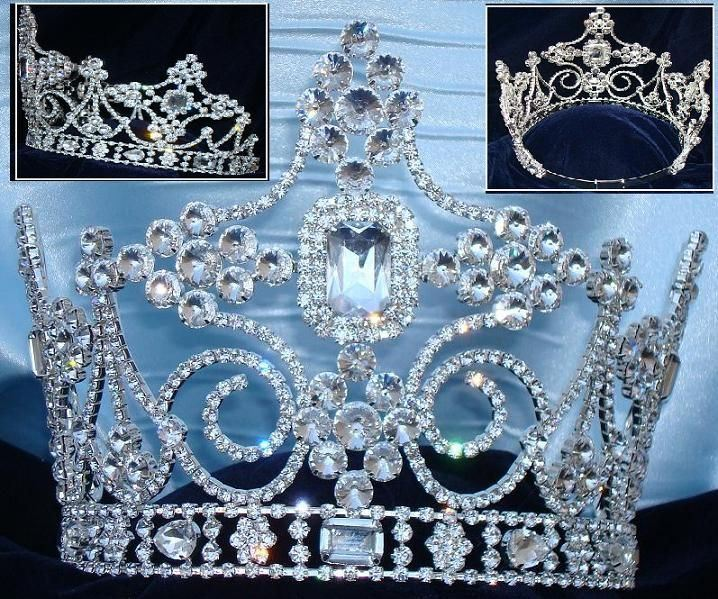 Empire Regal Crown Silver Queen or King  Rhinestone Crown, CrownDesigners