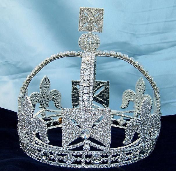 Victorian style  Regal full silver Crown - CrownDesigners