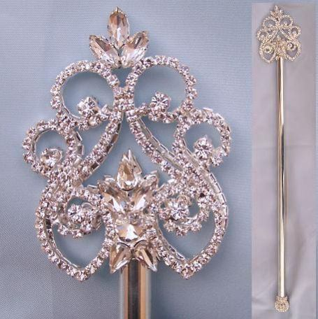 Northern Lights Imperial Rhinestone silver Scepter - CrownDesigners
