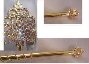 Northern Lights Imperial Rhinestone Gold Scepter - CrownDesigners