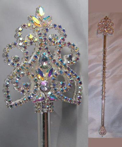 Northern Lights Imperial Rhinestone Silver Scepter