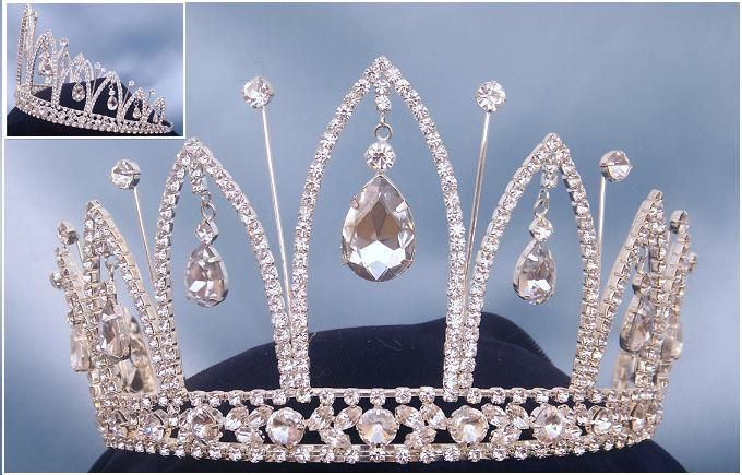Royal silver rhinestone crown tiara, CrownDesigners