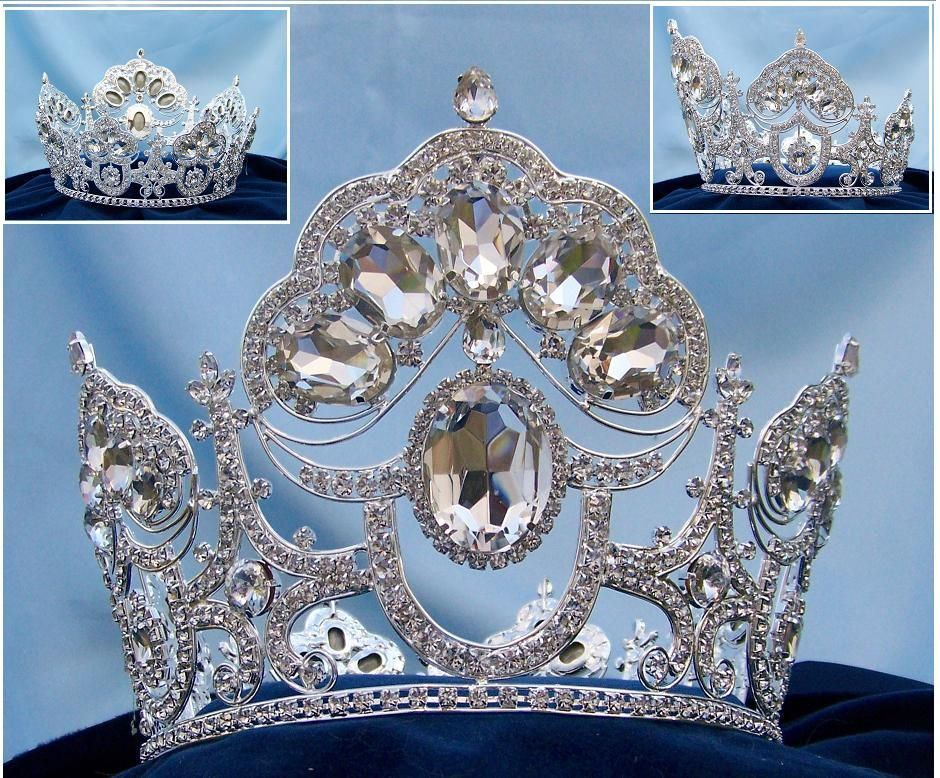 Beauty Pageant Queen Princess Bridal Rhinestone Crown Tiara The Charlotte Amalie - CrownDesigners