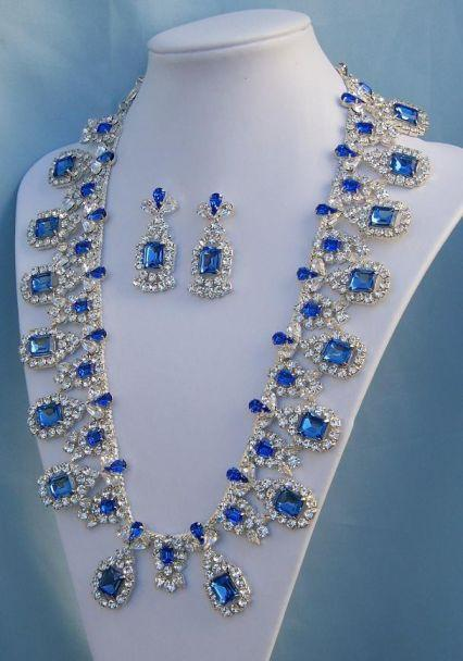 The Royal Queen Imperial Rhinestone Necklace & Earrings Set, CrownDesigners