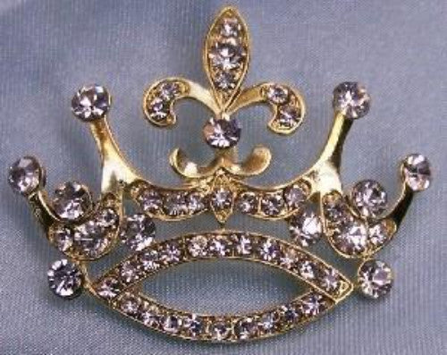 Princess Alexia Rhinestone Crown Pin - CrownDesigners