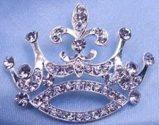 Princess Alexia Rhinestone Crown Pin, CrownDesigners