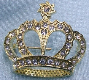 Royalton Rhinestone Crown Pin - CrownDesigners