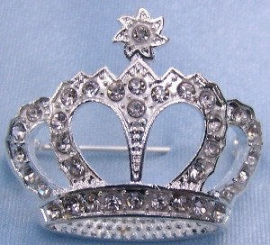 Royalton Rhinestone Crown Pin, CrownDesigners