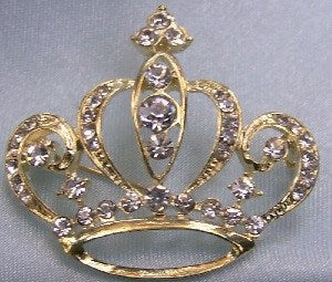 Birmington Crown Rhinestone Crown Pin, CrownDesigners
