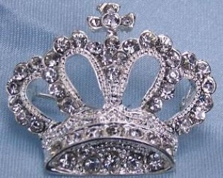 Camelia Rhinestone Crown Brooch, CrownDesigners