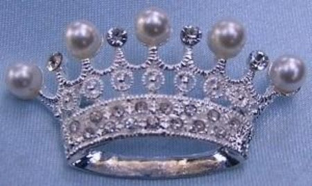 Edelweis Crown Rhinestone Crown Brooch, CrownDesigners