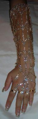 The Nile Princess Rhinestone Gold Arm Bracelet - CrownDesigners
