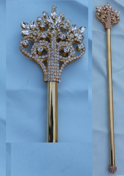 The Court of Versailles Royal GOLD Scepter, CrownDesigners