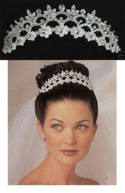 Rhinestone Garland BRIDAL Crown Tiara, CrownDesigners