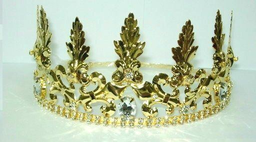 Lancaster Gold Adjustable Unisex Crown Tiara - CrownDesigners