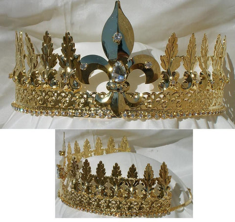 Lancaster Gold Adjustable Unisex Crown Tiara, CrownDesigners