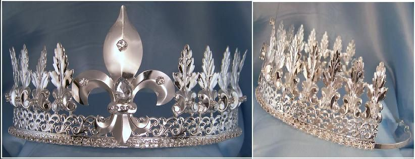Lancaster Silver  Adjustable Unisex Crown Tiara - CrownDesigners