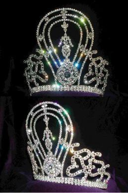 Rhinestone Miss Beauty Pageant Queen Crown - CrownDesigners