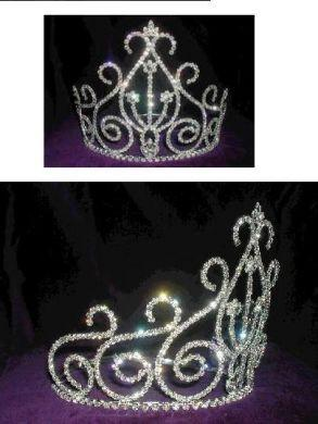 Rhinestone Beauty Pageant Queen Princess Crown Tiara - CrownDesigners