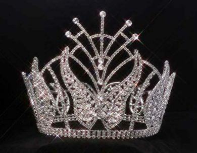 Crown Rhinestone Beauty Pageant Full Round Tiara, CrownDesigners
