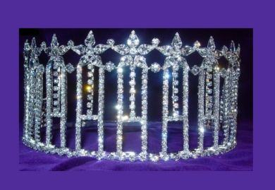 Miss Beauty Pageant Adjustable Rhinestone Crown Tiara - CrownDesigners