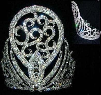 Beauty Pageant Rhinestone Queen Havana Tropicana Crown Tiara