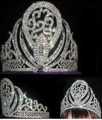 Miss Beauty Pageant Adjustable Rhinestone Crown Tiara, CrownDesigners
