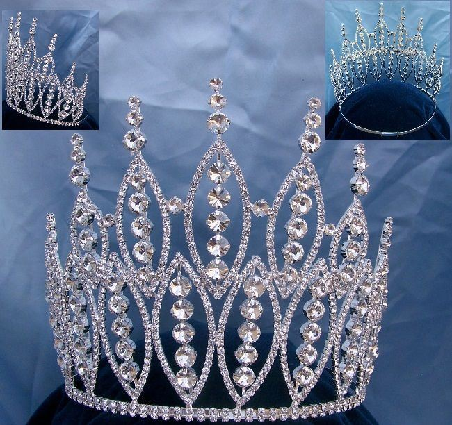 Queen of The 7 Seas Beauty Pageant Adjustable Rhinestone Crown Tiara - CrownDesigners