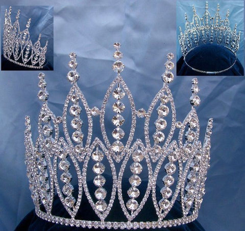 Queen of The 7 Seas Beauty Pageant Adjustable Rhinestone Crown Tiara, CrownDesigners