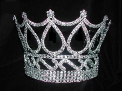 Rhinestone Unisex Queen King Royal Crown - CrownDesigners
