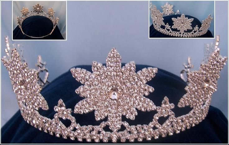 Adjustable silver STARRY NIGHT TIARA - CrownDesigners