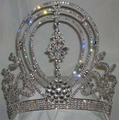 Reach for the heavens Beauty Pageant rhinestone crown tiara - CrownDesigners