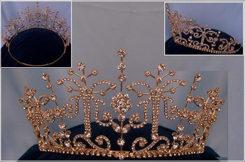 Adjustable Gold Princess Margaret Tiara, CrownDesigners