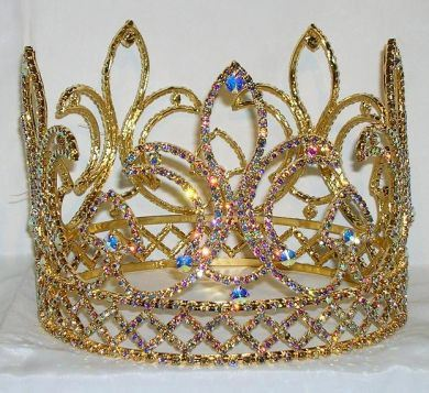The Deauville Men's Rhinestone Gold Crown, CrownDesigners