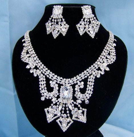 Divina Divas Pageant Jewelry Necklace and Earrings Set III, CrownDesigners