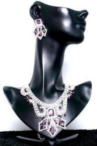 Divina Divas Pageant Jewelry Necklace and Earrings Set II - CrownDesigners