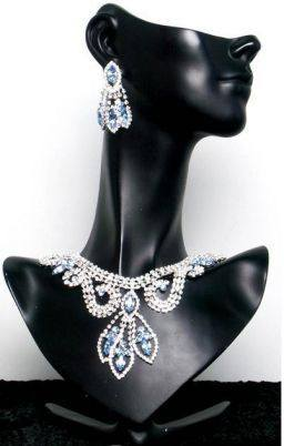 Divina Divas Pageant Jewelry Necklace and Earrings Set IV, CrownDesigners