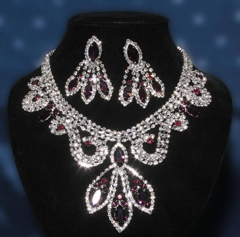 Divina Divas Pageant Jewelry Necklace and Earrings Set IX, CrownDesigners