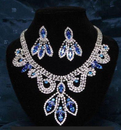 Divina Divas Pageant Jewelry Necklace and Earrings Set VIII - CrownDesigners