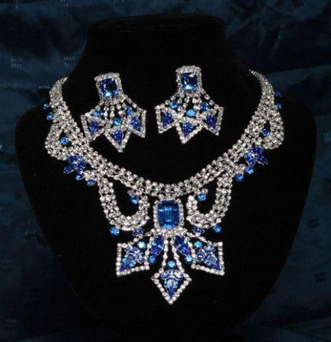 Divina Divas Pageant Jewelry Necklace and Earrings Set VII, CrownDesigners