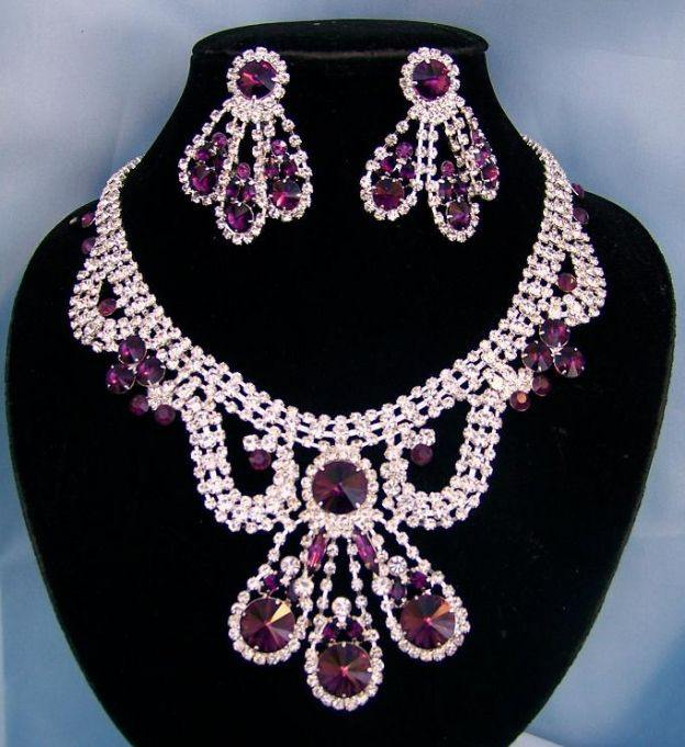 Divina Divas Pageant Jewelry Necklace and Earrings Set VI, CrownDesigners